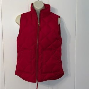 J. Crew red puffer vest